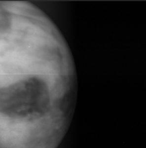 金星の夜側の画像